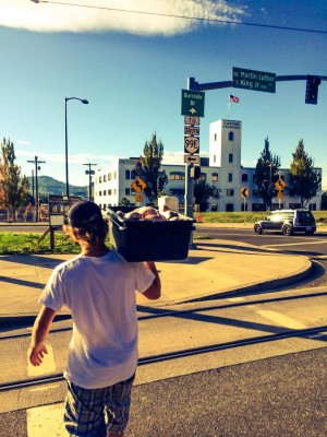 Josh Monthei from The Van With No Plan hitting the street in Portland to feed those in need.